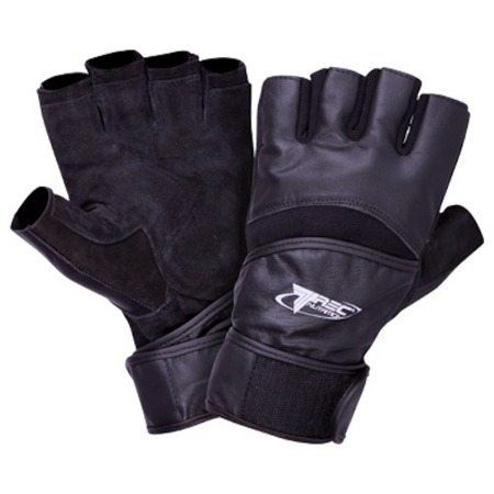 Trainingshandschuhe Strong Gloves Leder Fitness Gym Kraftsport Schwarz - L